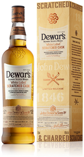 Dewar's Scotch White Label Scratched...